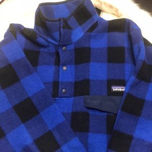 Men's Patagonia pullover blue small